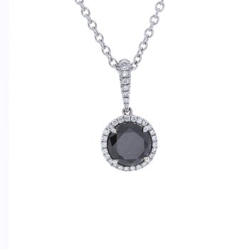 BRILLIANT BLACK DIAMOND PENDANT