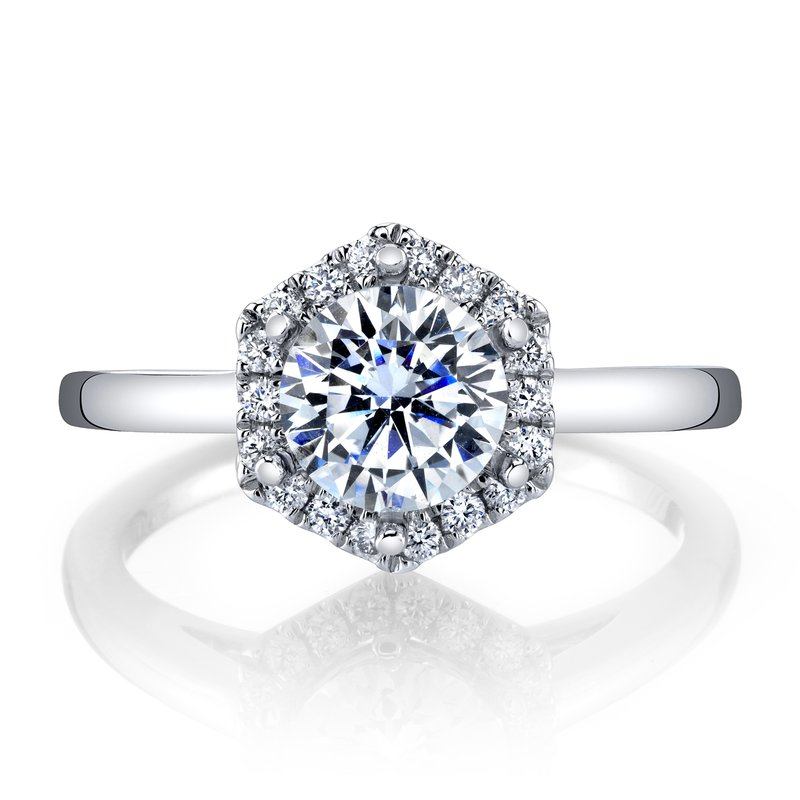 MARS Jewelry MARS 27183 Diamond Engagement Ring, 0.15 Ctw.