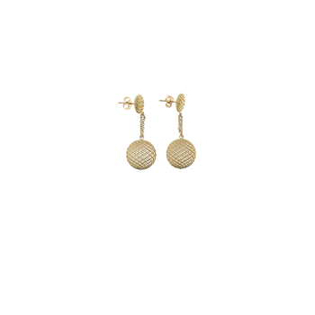 18KT GOLD SMALL DROP EARRINGS
