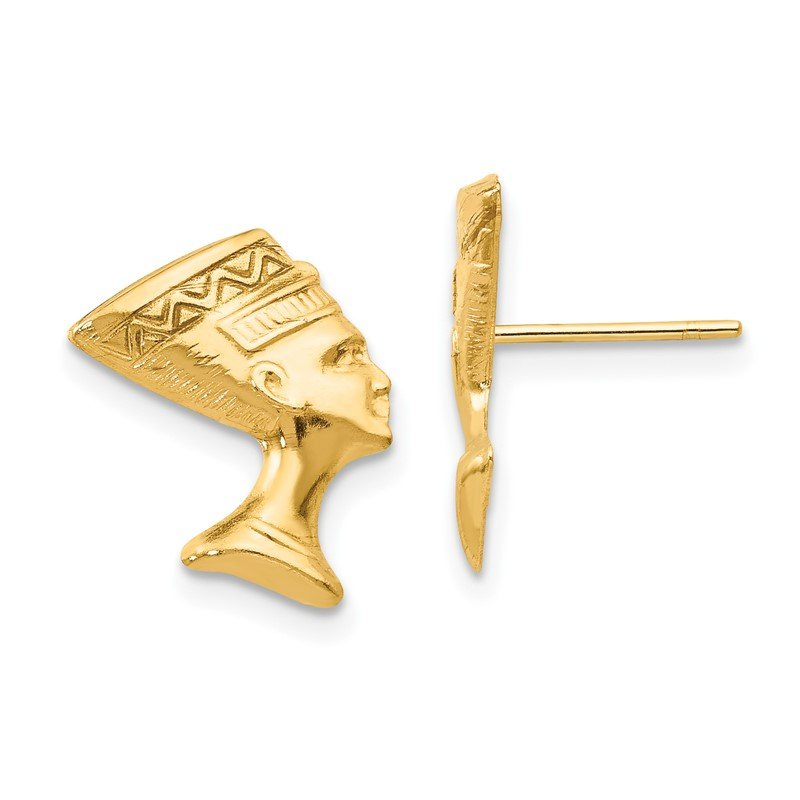 Quality Gold 14k Madi K Nefertiti Post Earrings
