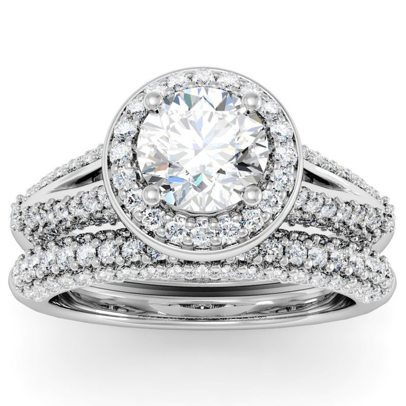 Scott Kay Men S Platinum 6mm Hammered Center Milgrain Edge: Motif Jewelers: Motif Signature Round Diamond Halo