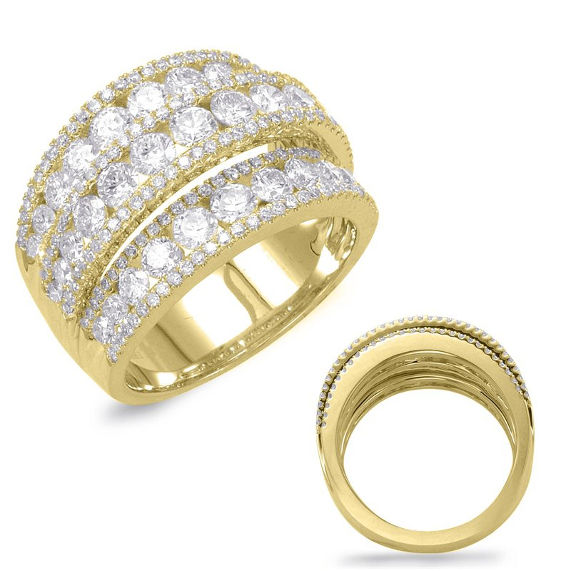 Briana Yellow Gold Diamond Band