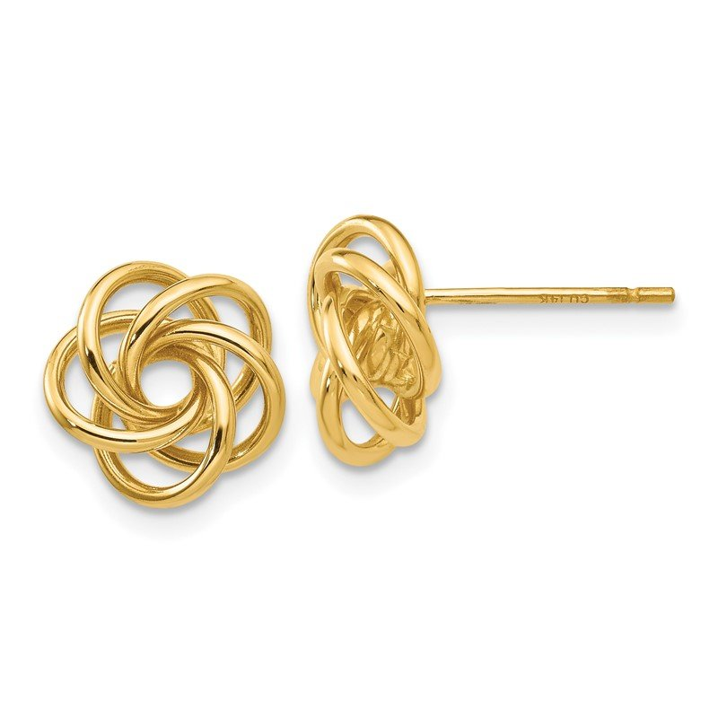 Quality Gold 14k Love Knot Earrings
