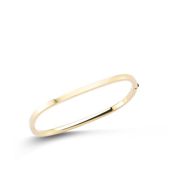 Square Bangle &Ndash; 18K Yellow Gold