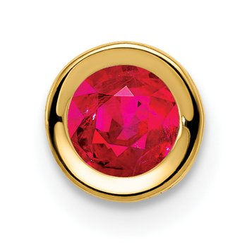 14k 5mm Ruby bezel pendant