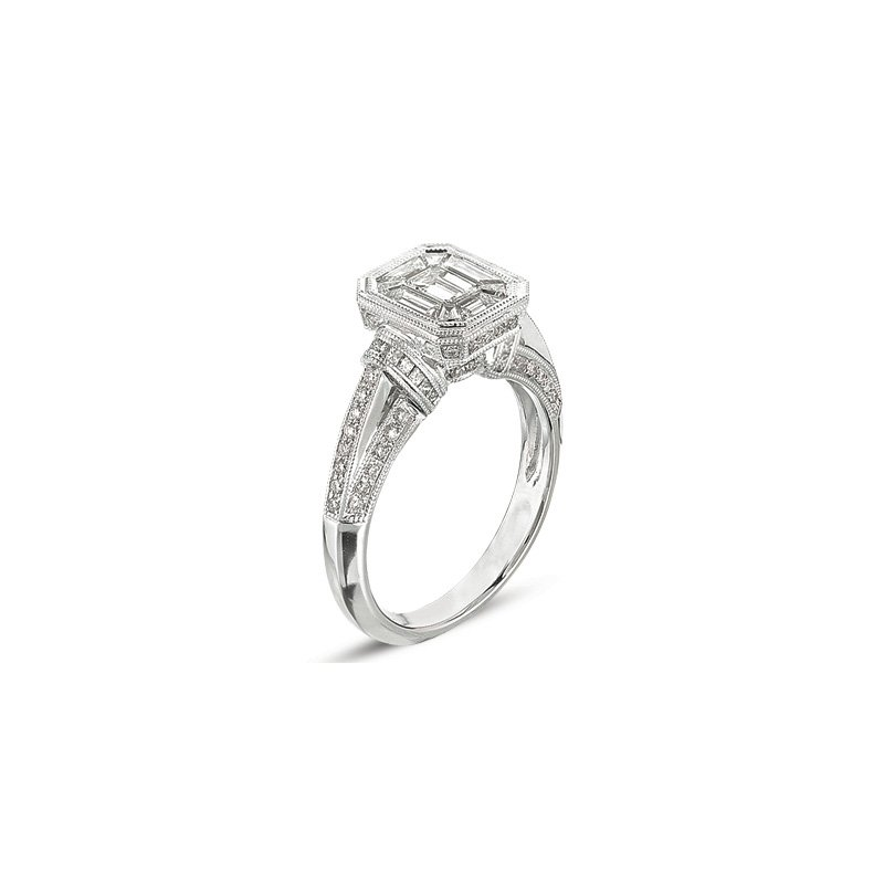 S. Kashi  & Sons White Gold M.pave Ring