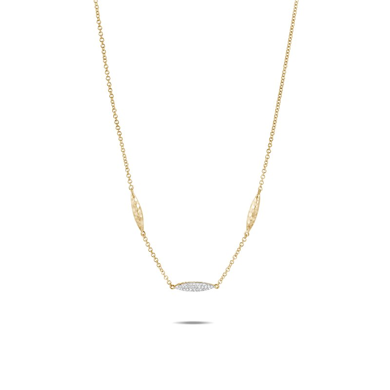 JOHN HARDY Classic Chain Spear Long Necklace, Hammered 18K Gold, Diamonds