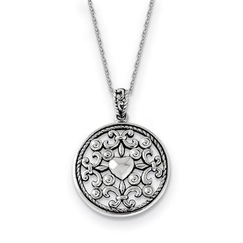Sterling Silver A Friend For All Seasons 18 Fleur de lis Necklace
