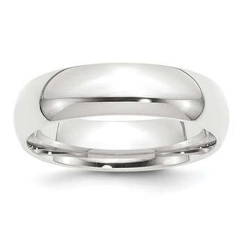 Platinum 6mm Comfort-Fit Wedding Band