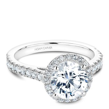 Noam Carver Modern Engagement Ring B034-03A