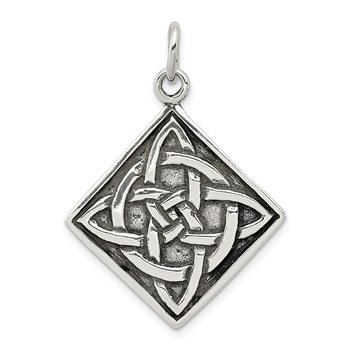 Sterling Silver Antiqued Celtic Charm