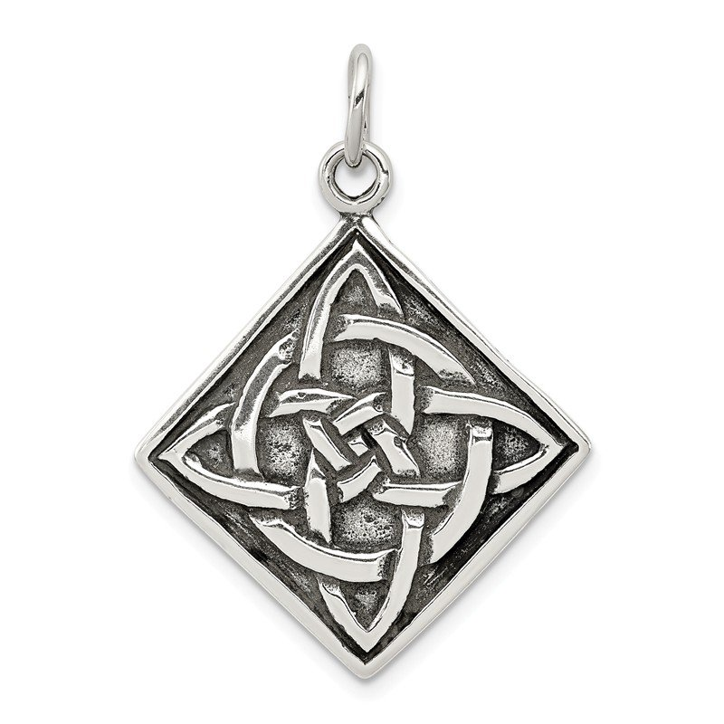 Arizona Diamond Center Collection Sterling Silver Celtic Charm