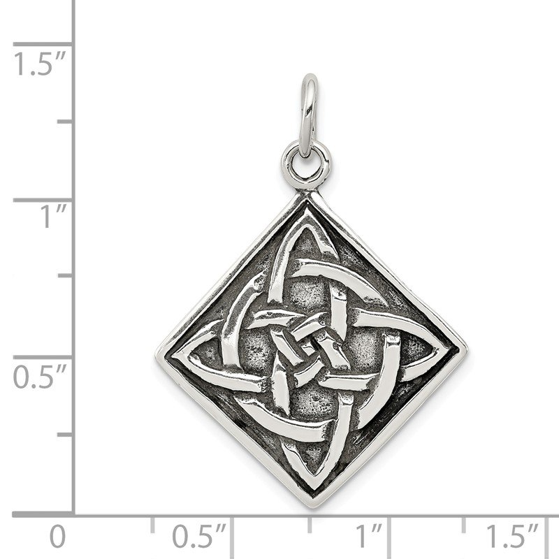 Quality Gold Sterling Silver Antiqued Celtic Charm