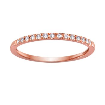 BLISS1: 14K Rose Gold Wedding Band