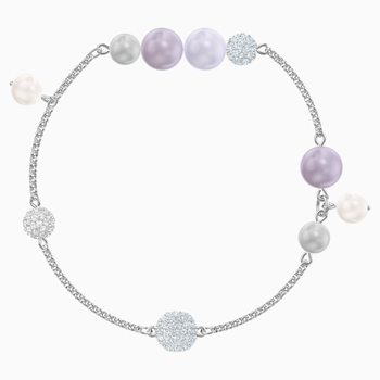 Swarovski Remix Collection Pearl Strand, Multi-colored, Rhodium plated