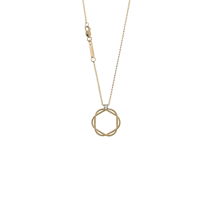 Roberto Coin 18Kt Braided Diamond Circle Of Life Pendant