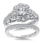 Valina Halo Engagement Ring Mounting in 14K White Gold (.46 ct. tw.)