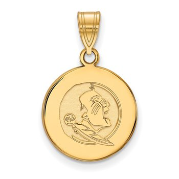 Gold-Plated Sterling Silver Florida State University NCAA Pendant