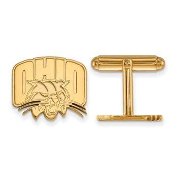 Gold-Plated Sterling Silver Ohio University NCAA Cuff Links
