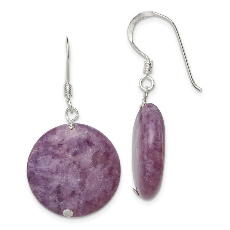 Quality Gold Sterling Silver Purple Lepidolite Earrings