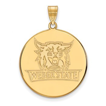Gold-Plated Sterling Silver Weber State University NCAA Pendant