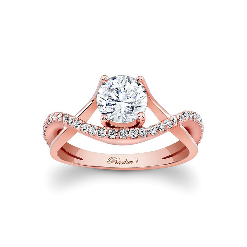 Barkev's Rose Gold Engagement Ring