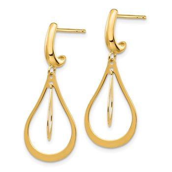 14k Polished Dangle Earrings