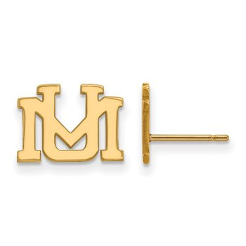 Gold-Plated Sterling Silver University of Montana NCAA Earrings
