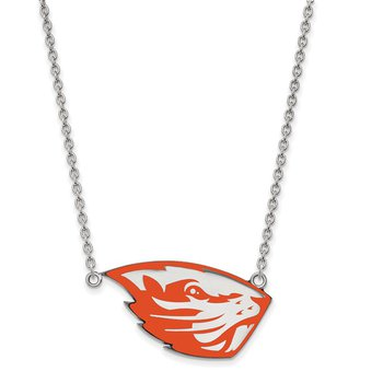 Sterling Silver Oregon State University NCAA Necklace