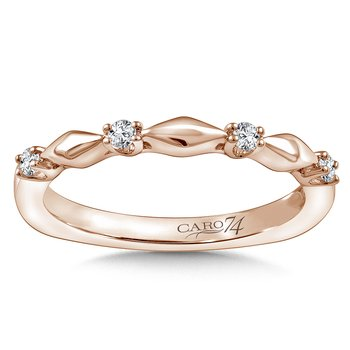 Stackable Wedding Band in 14K Rose Gold (.10 ct. tw.)