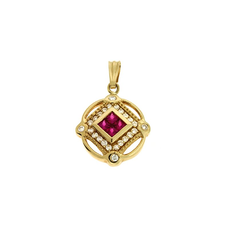 S. Kashi  & Sons Ruby./diamond Pendant