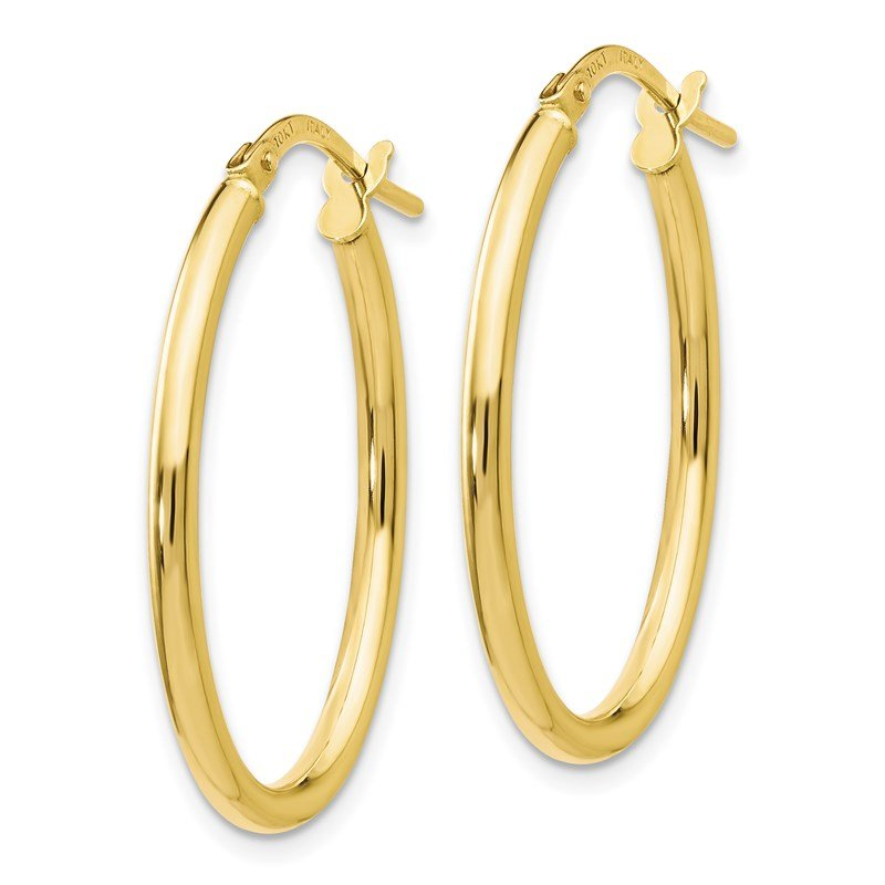 Leslie's Leslie's 10K Polished Oval Hinged Hoop Earrings