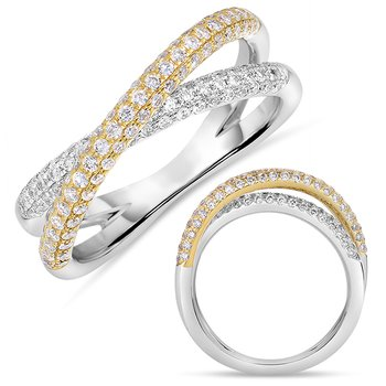 Yellow & White Gold Pave Band