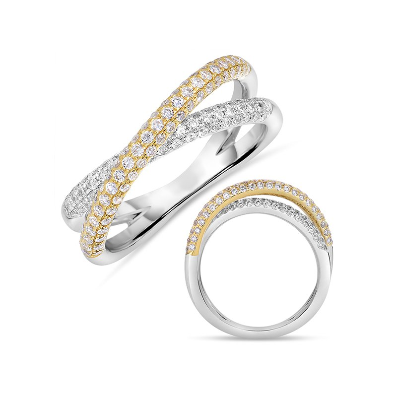 Briana Yellow & White Gold Pave Band