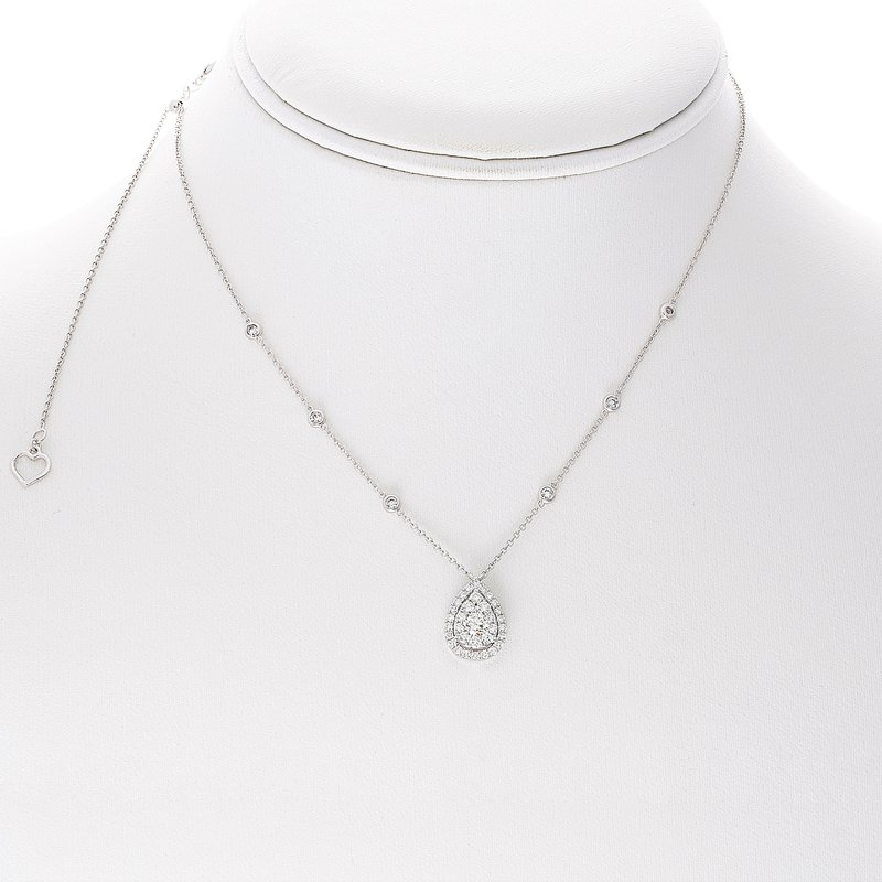 Roman & Jules Pear-shaped White Diamond Necklace