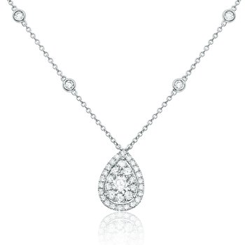 Pear-shaped White Diamond Necklace
