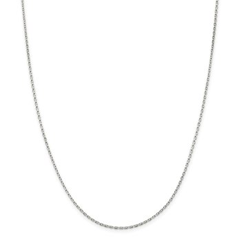 Sterling Silver 1.5mm Beveled Oval Cable Chain