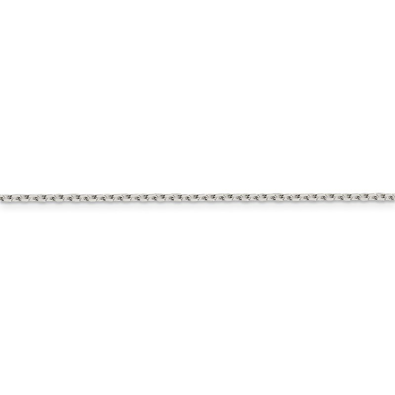 Quality Gold Sterling Silver 1.5mm Beveled Oval Cable Chain