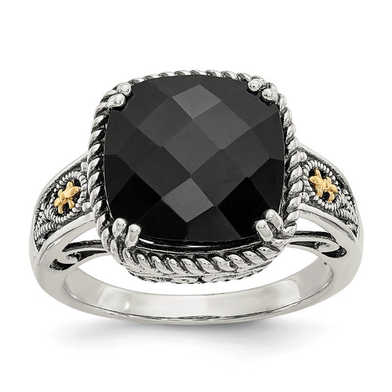 Shey Couture Sterling Silver w/14k Onyx Ring