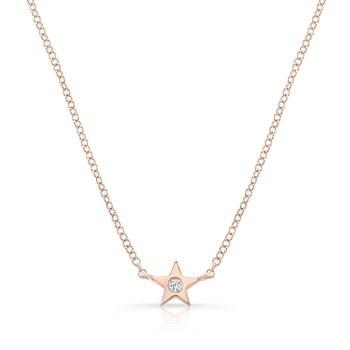 Rose Gold Petite Star Necklace