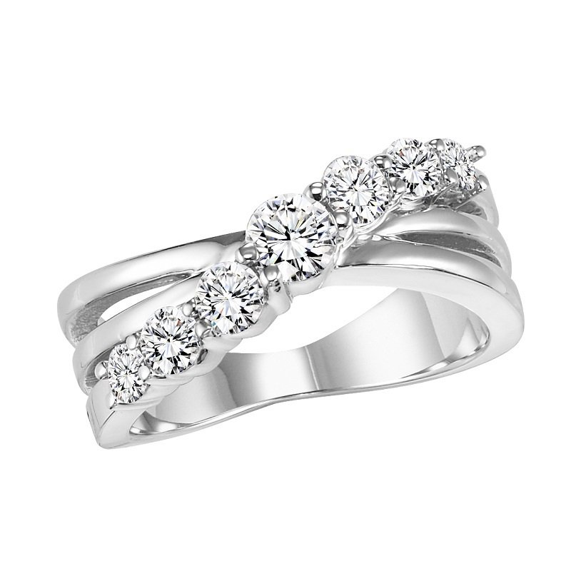 Bridal Bells 14K Diamond Band 1 ctw