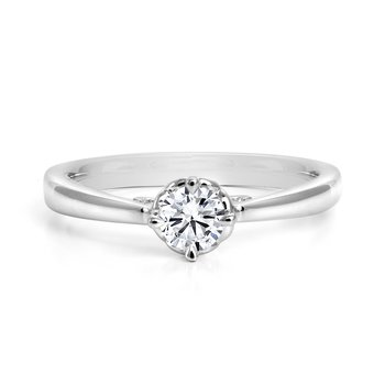 Compass Diamond Solitaire Engagement Ring