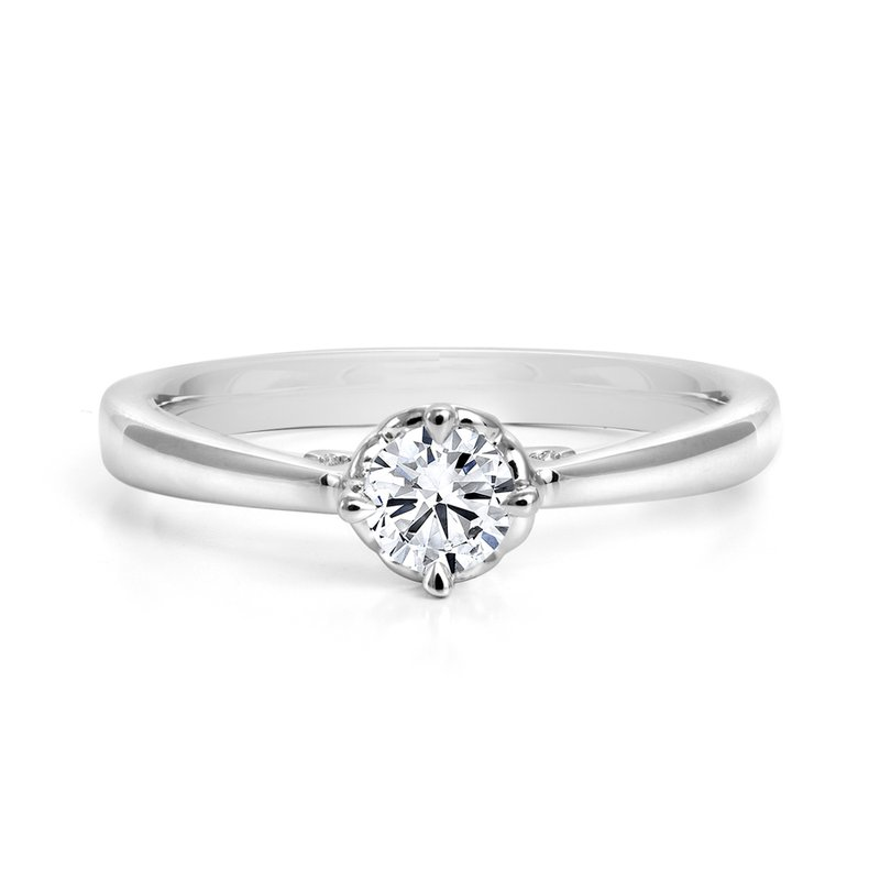Canadian Rocks Compass Diamond Solitaire Engagement Ring