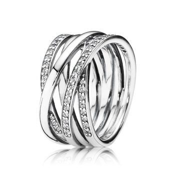 Entwined Ring, Clear CZ