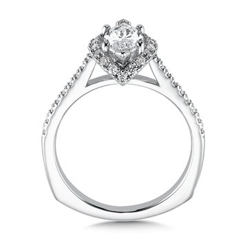 Marquise shape halo mounting  .30 ct. tw.,  1 ct. marquis center.