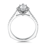 Valina Bridals Marquise shape halo mounting  .30 ct. tw.,  1 ct. marquis center.
