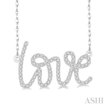 love diamond pendant