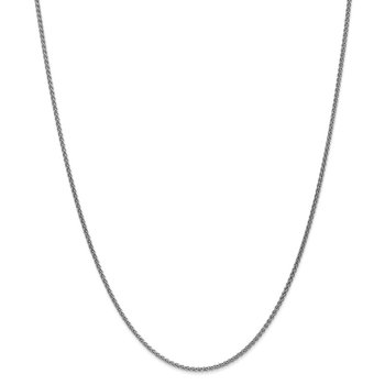 Leslie's 14k White Gold 1.65mm Spiga (Wheat) Chain