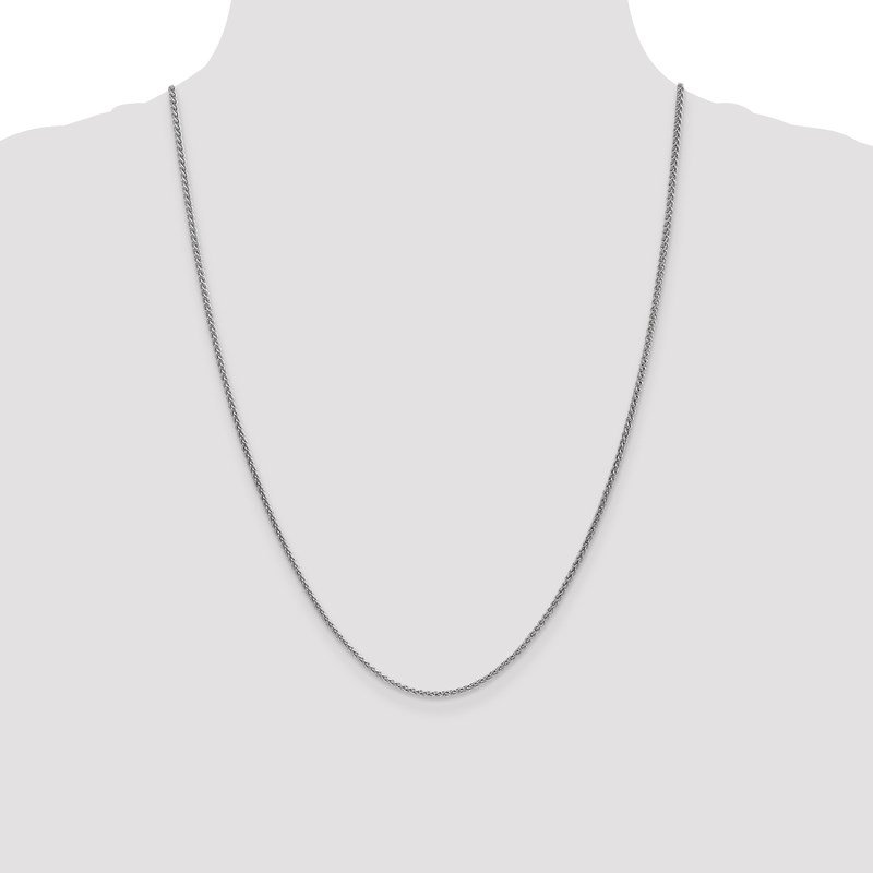 Leslie's Leslie's 14K White Gold 1.65mm Spiga (Wheat) Chain