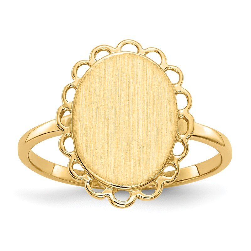 Quality Gold 14k 12.0x9.0mm Open Back Signet Ring